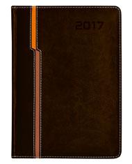 kalendarz reklamowy ksiażkowy w kolorze brązowym