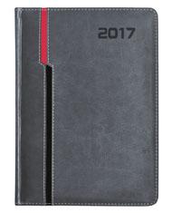 kalendarz ksiązkowy dla firm w oprawie szarej