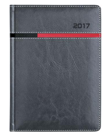 kalendarz książkowy dla firm - oprawa szara