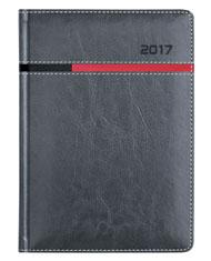 kalendarz książkowy A4 dzinnny w oprawie szarej