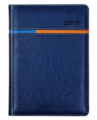 kalendarz książkowy niebieski A4