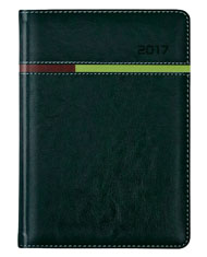 kalendarz B5 w oprawie koloru zielonego