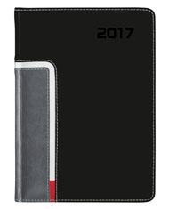 kalendarz książkowy A4 Dzienny w oprawie czarnej