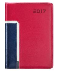 kalendarz ksiażkowy w oprawie koloru czerwonego