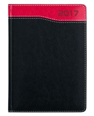 kalendarz książkowy dla firm czarno-czerwony