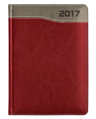 kalendarze książkowe dla firm - kolor bordowy