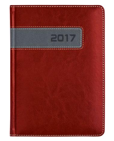 kalendarz książkowy dla firm - oprawa bordowa