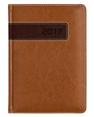 kalendarz książkowy firmowy A5 - brązowy