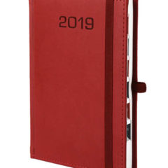 Kalendarz książkowy Classic z gumką - czerwony