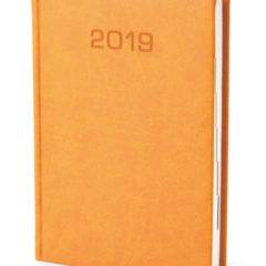 Kalendarz książkowy w matowej oprawie Classic - miodowa