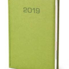Kalendarz książkowy w matowej oprawie Classic - jasnozielona