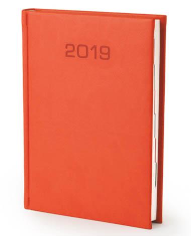 Kalendarz książkowy w matowej oprawie Classic - pomarańczowa