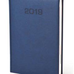 Kalendarz książkowy w matowej oprawie Classic - niebieska