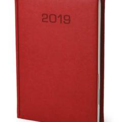 Kalendarz książkowe Classic - czerwony