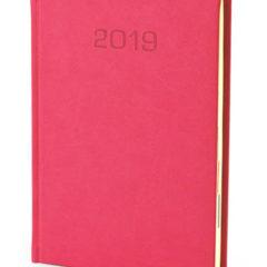 Kalendarz książkowy Nadir - malinowy
