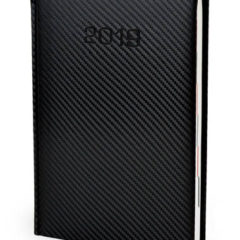 Kalendarz książkowy Carbon - kolor czarny