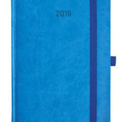 Kalendarz książkowy Zig-zag - niebieski / granatowy
