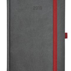 Kalendarz książkowy Zig-zag - szary / czarny