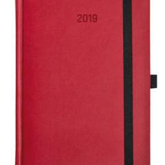 Kalendarz książkowy Zig-zag - czerwono / szary