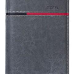 Kalendarz książkowy Combo Horizontal szary / czarny / czerwony