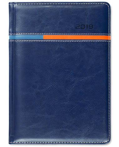Kalendarz książkowy Combo Horizontal granatowy / niebieski / pomarańczowy