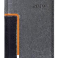 Kalendarz książkowy Combo Corner szary / czarny / pomarańczowy / biały