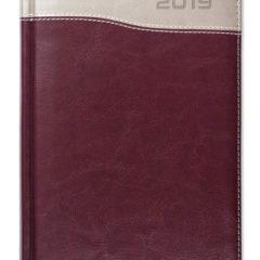 Kalendarz książkowy Combo Top bordowy / miedź