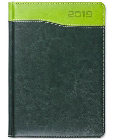 Kalendarz książkowy Combo Top zielony / jasnozielony