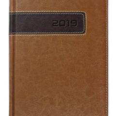 Kalendarz książkowy Combo Center - jasnobrązowy / brązowy