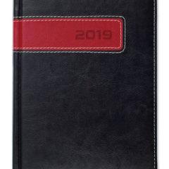 Kalendarz książkowy Combo Center - czarny / czerwony