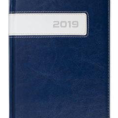 Kalendarz książkowy Combo Center - granatowy / biały