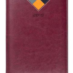 Kalendarz książkowy Combo Triangle - bordowy