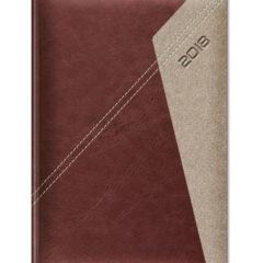 Kalendarz książkowy Yuta Koperta P - ciemny brąz
