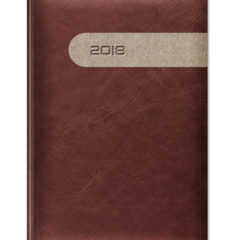 kalendarz książkowy Yuta Duo - ciemny brąz