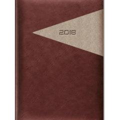 kalendarz książkowy Yuta Trójkąt - ciemny brąz