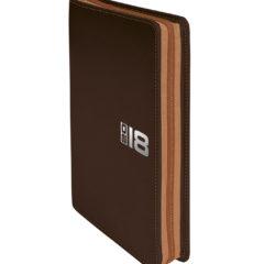 Kalendarz książkowy Zipo brązowy z jasnobrązowym zamkiem