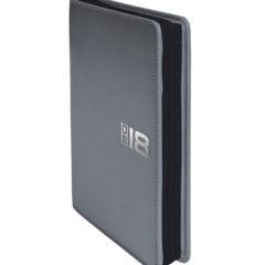 Kalendarz książkowy Zipo szary z czarnym zamkiem