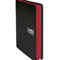 Kalendarz książkowy Zipo czarny z czerwonym zamkiem