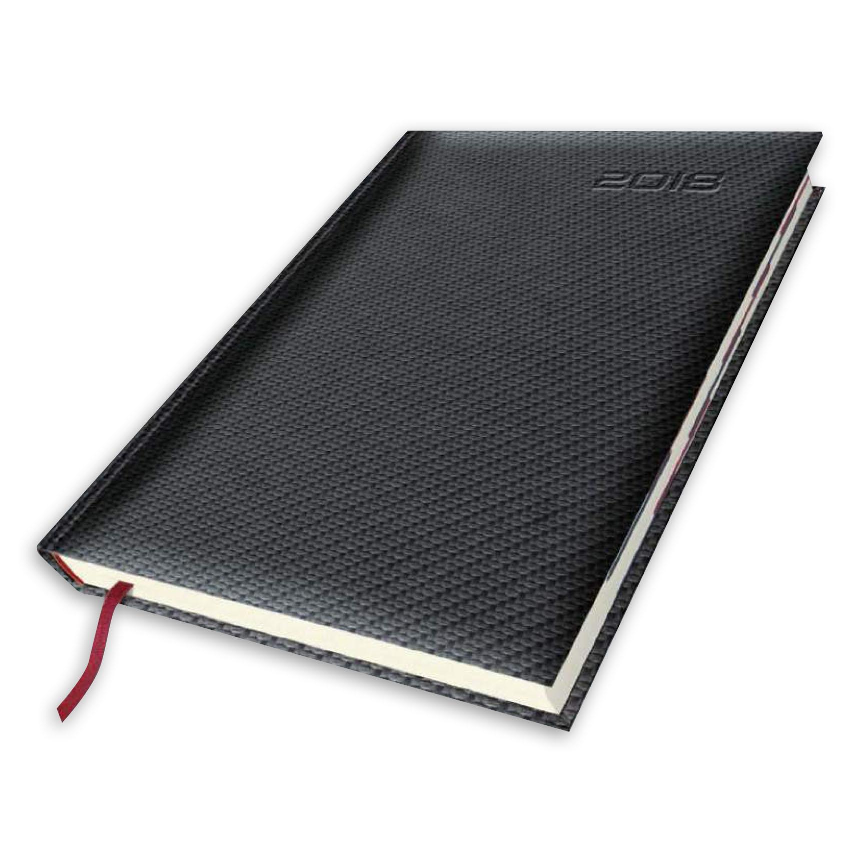 kalendarz książkowy A5 Carbon