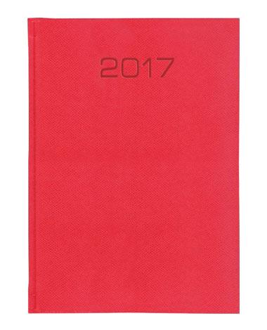 kalendarz w oprawie podobnej do skóry jaszczurki koloru czerwonego