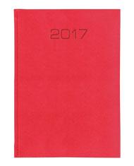 kalendarz ksiażkowy A5 - oprawa imitacja skóry jaszczurki - czerwona