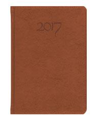 kalendarz w eleganckiej oprawie brązowej
