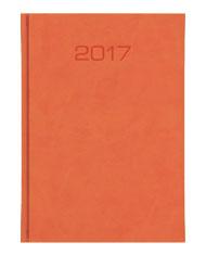 kalendarz książkowy B5 tygodniowu w oprawie pomarańczowej