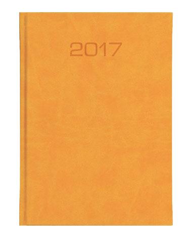 kalendarz ksiażkowy A5 dzienny - oprawa miodowa