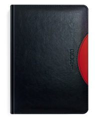 Kalendarze książkowe czarny z czerwonym