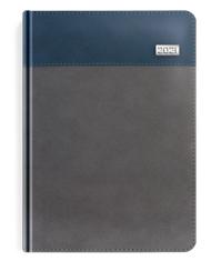 Kalendarze książkowe szare z niebieskim