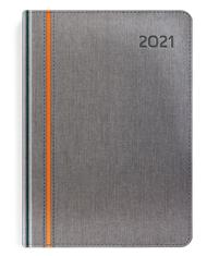 Kalendarze książkowe Bi kolor szary-pomarańcz
