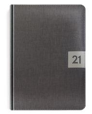 Kalendarze książkowe w oprawie metalizowanej szarej z popielatym