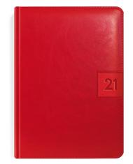 Kalendarze ksiązkowe w kolorze karmazynowo-czerwonym
