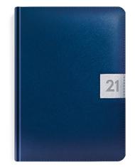 Kalendarze książkowe w metalizowanej oprawie granat i srebro